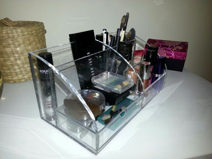 Acrylic Desk Tidy To Make Up And Brushes Saw This On Someone Else S