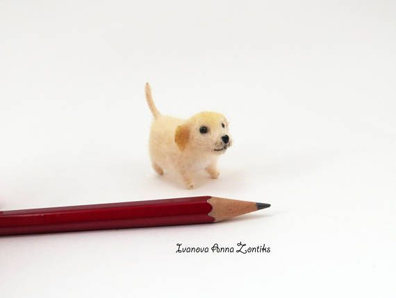 Miniature Labrador  miniature  Lab Golden Retriever Felt dog