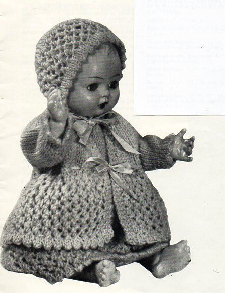 75 Best Vintage Knitting Doll Clithes Images On Pinterest Knitted