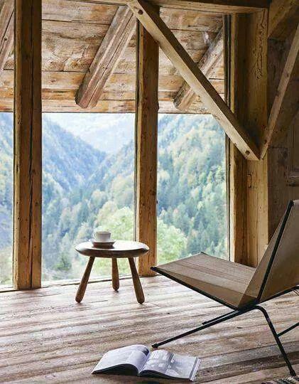 Interior de casa con vistas