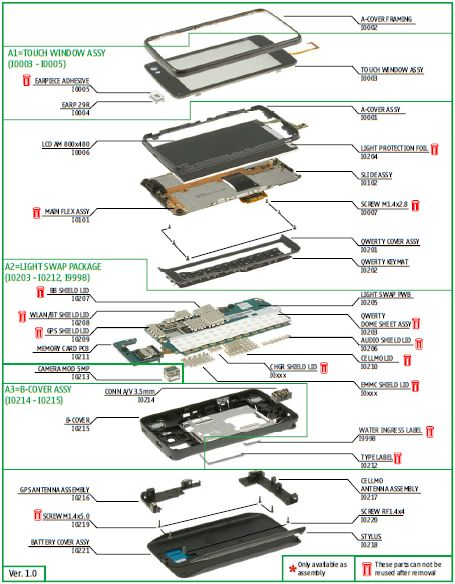inside iphone 4s components 4 internal parts diagram