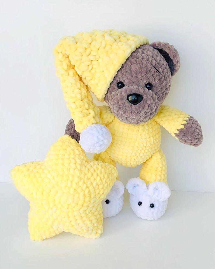FREE bear in pajamas pattern