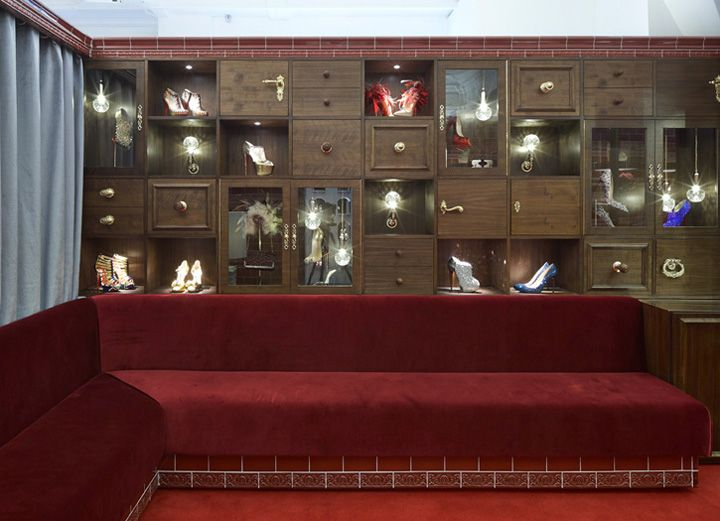 Christian Louboutin store by Lee Broom at Harrods, London. The VIP ...