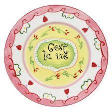 Cake Plate C'est la Vie - World of Jet - www.lotsofballoons.com