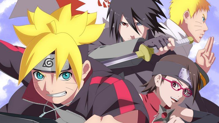 Boruto Sarada Sasuke and Naruto Wallpaper
