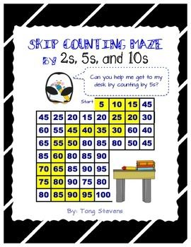 The skip counting mazes are awesome to help reinforce counting by 2s, 5s, and 10s. The worksheets can be used as morning work, homework, or as a math center activity. The worksheets are also great for use on the 100th Day of School. Each skip counting maze requires that students skip count to 100.