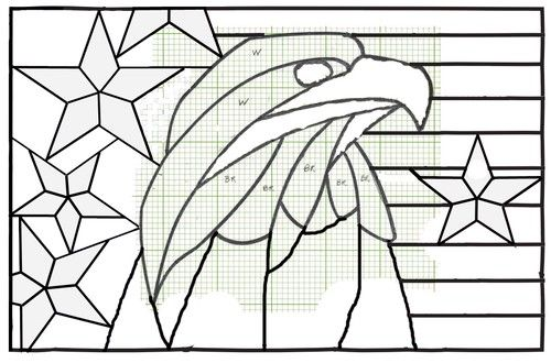 Eagle Flag Patriotic Stained Glass Light Catcher USA - Holidays ...