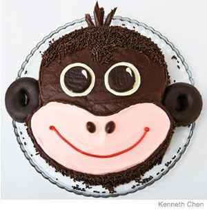 One of our favorite birthday cakes to make...easy and cute!: Fun Recipes, Birthday Parties, Monkey Cakes, Socks Monkey, 1St Birthday, First Birthday, Cakes Design, Kids Birthday Cakes, Monkey Birthday Cakes