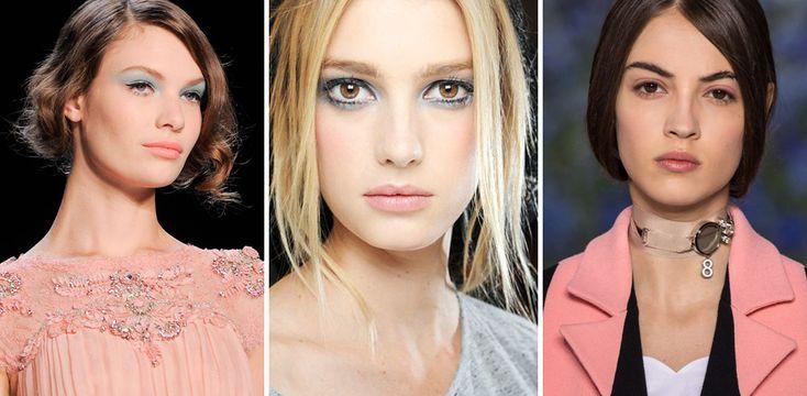 Make-up rosa quarzo e blu serenity: trucco occhi ispirato ai colori Pantone 2016 : Album photo - alfemminile