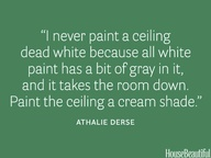 Paint your ceiling a cream shade #Tip #Paint #Home