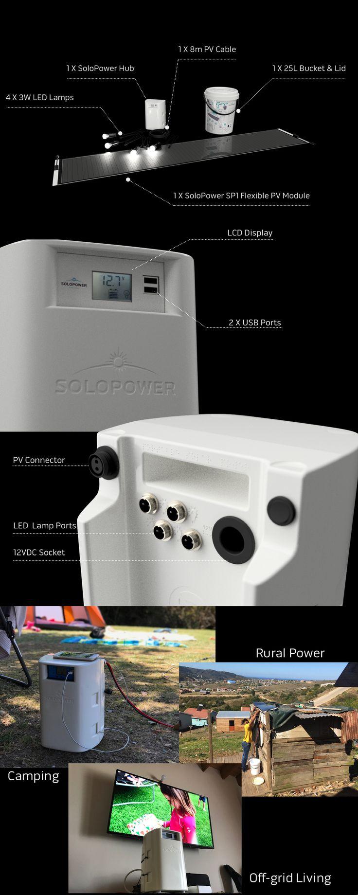 SoloBucket™ - powerful, portable, lightweight solar solution!