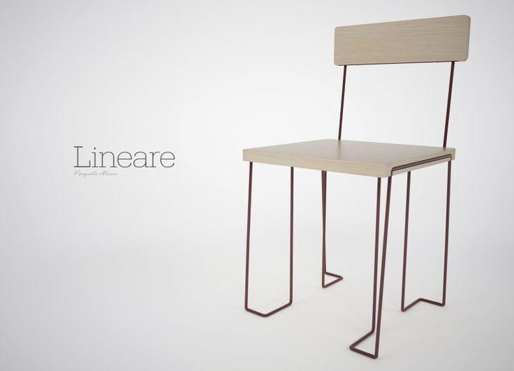 Lineare segue l'idea di semplicità formale e leggerezza visiva. Gli elementi caratterizzanti della sedia, schienale e seduta, sono enfatizzati da una struttura d'acciaio che non vuole essere protagonista, ma solo una parte funzionale.