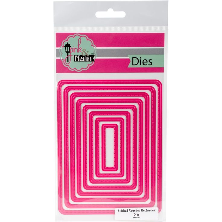 Pink And Main Dies-Stitched Rounded Rectangles, 8/Pkg - stitched rounded rectangles, 8/pkg, 8/Stitched Rounded Rectangles/Pkg stitched rounded rectangles/ 8/pkg
