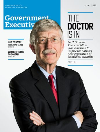 Look who's on the cover of the July issue of Government Executive Magazine! NIH Director Francis Collins talks about the future of ‎biomedical ‎science, a field that returns about $2 to the ‎economy for every $1 in ‎taxpayer investment.