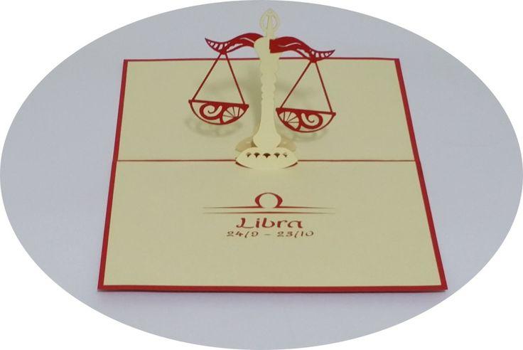 Libra 24 September –23 October - 3D Pop Up Cards - Greeting Cards - Ovid Gifts