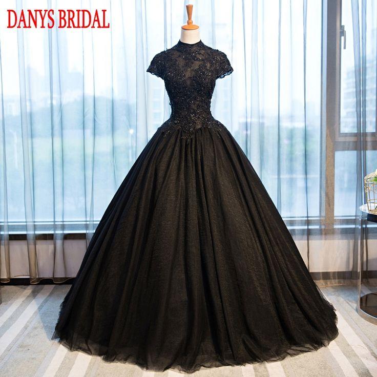 Puffy Black Lace Quinceanera Dresses Tulle Masquerade Sweet 16 Dresses Ball Gowns vestidos de 15 anos debutante princesa #Affiliate