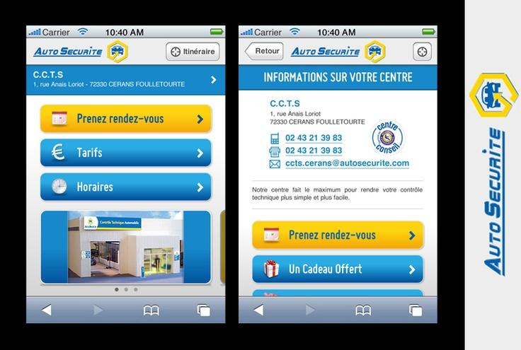 Site mobile - Auto Sécurité
