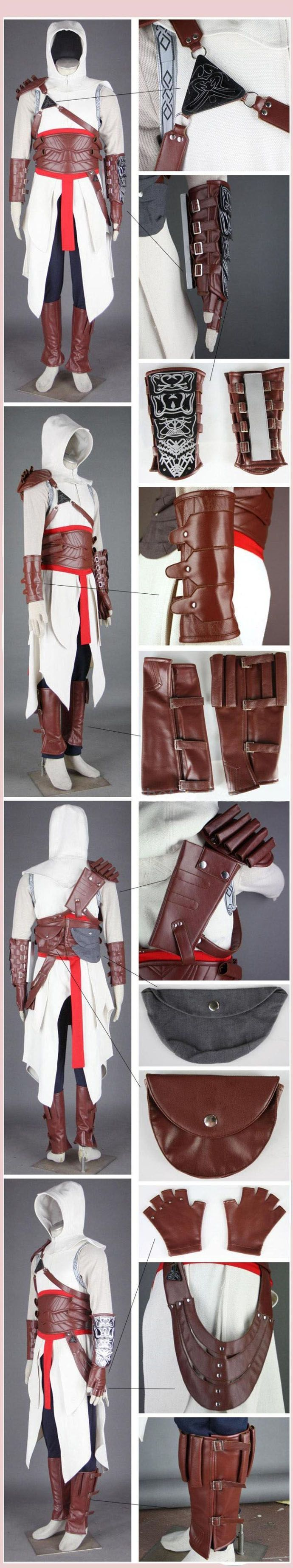 Assassin's Creed Costume Pattern | ... : Assassin's Creed 2 Brotherhood Altair Assassin Cosplay Costume - COSPLAY IS BAEEE!!! Tap the pin now to grab yourself some BAE Cosplay leggings and shirts! From super hero fitness leggings, super hero fitness shirts, and so much more that wil make you say YASSS!!!