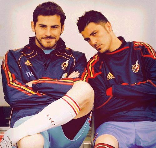 Iker Casillas and David Villa (Spain National Football team)
