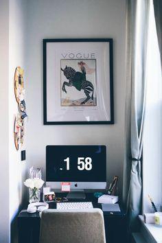 Small desk area.