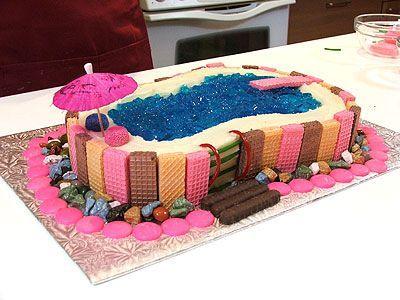 swimming pool cake ideas chocolate legos found on cakechoosercom. Interior Design Ideas. Home Design Ideas