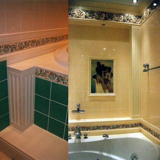 Обрамление ванны колонны из кориана. #нашаработа #кориан #corian #acrylic #solidsurface #bath #bathdesign #bathinterior #дизайнинтерьера #дизайн #интерьер #interiordesign #interior #designinterior #КАММЕКС #decor #decoration #декор by kammex_interior_stone
