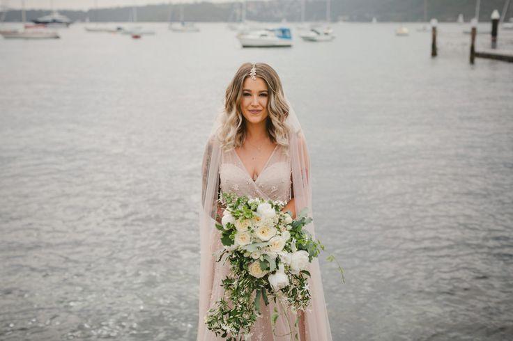blush wedding dress by Wendy Makin