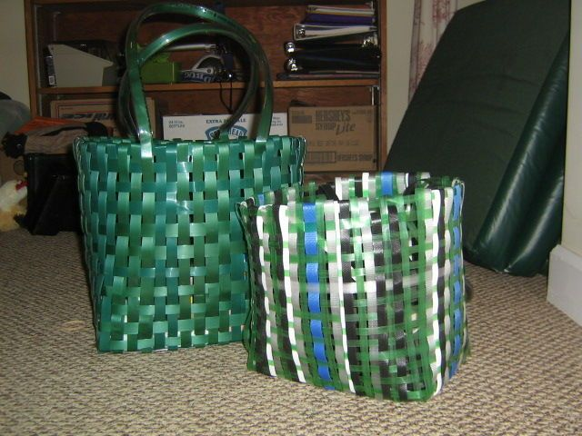 Basket Making Using Recycled Materials : Images about basket weaving on models