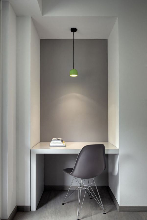 minimalist interior design great use of a small space Gray Interior - home office/work space