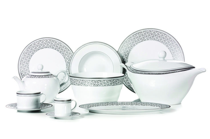 Victoire | 2015 DINNERWARE Collections - 84 Piece Dinner Set, 56 Piece Dinner Set, 44 Piece Dinner Set, 13 Piece Tea Set, 13 Piece coffee Set #dinnerware #porcelain #limogespaste #portuguese #GAHomeStyle