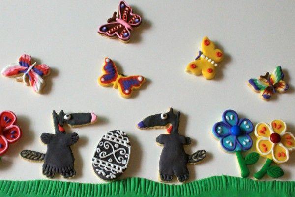 Печенья покрытые мастикой из маршмеллоу и айсингом