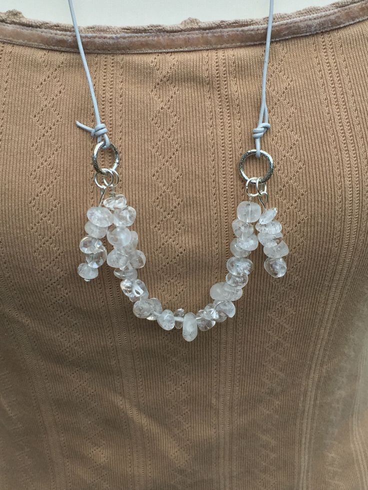 A personal favourite from my Etsy shop https://www.etsy.com/uk/listing/265077356/tassle-bead-necklacewhite-nugget-bead