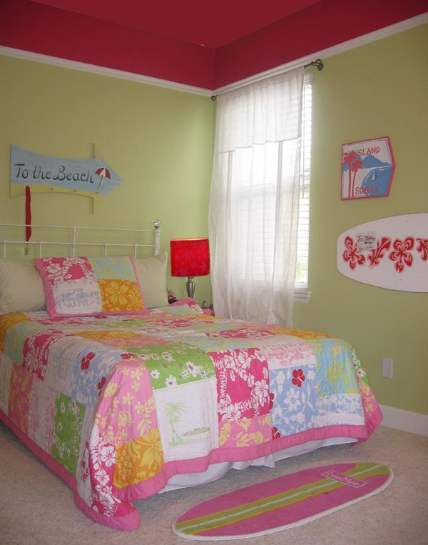 Magenta girl bedroom bedrooms sensible chic interior for Surfers bedroom design