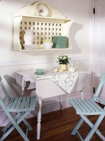 Cottage Accessories: Create the cottage look in your home by using pretty pastels and some of these traditional cottage accessories. Small Scale: Think of a cottage and you may picture a little bungalow by the seashore with small, charming rooms. Small-scale furniture takes up less space and fits better into cottage-sized dwellings.