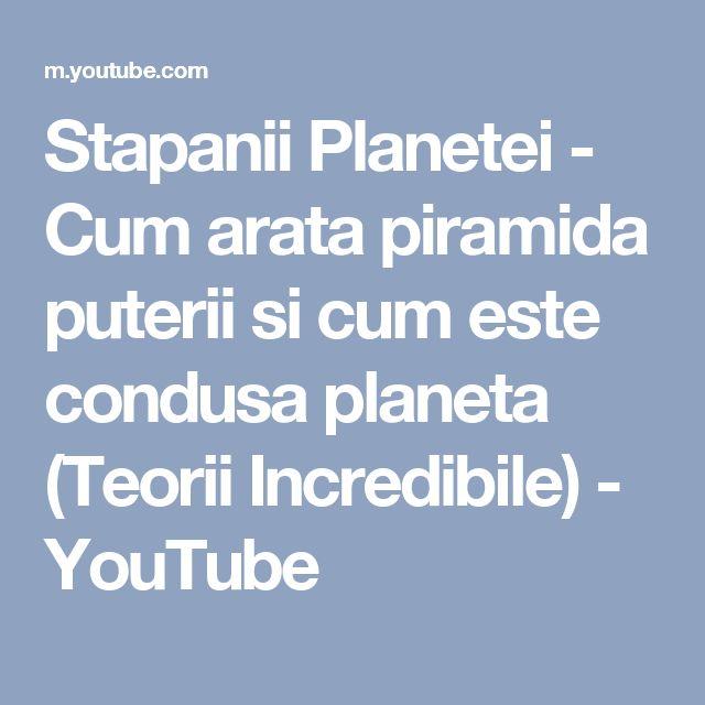 Stapanii Planetei - Cum arata piramida puterii si cum este condusa planeta (Teorii Incredibile) - YouTube