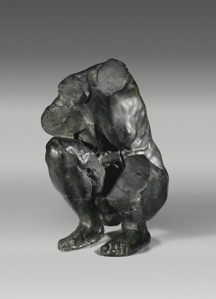 CAMILLE CLAUDEL 1864 - 1943 TORSE DE FEMME ACCROUPIE bronze height: 35cm., Conceived in 1885 and cast in bronze in an edition of two, most probably by the founder Frédéric Carvillani in 1913, under the instruction of Philippe Berthelot.