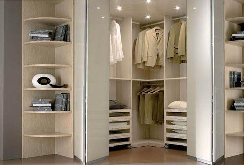 corner walk-in wardrobe Faer Ambienti