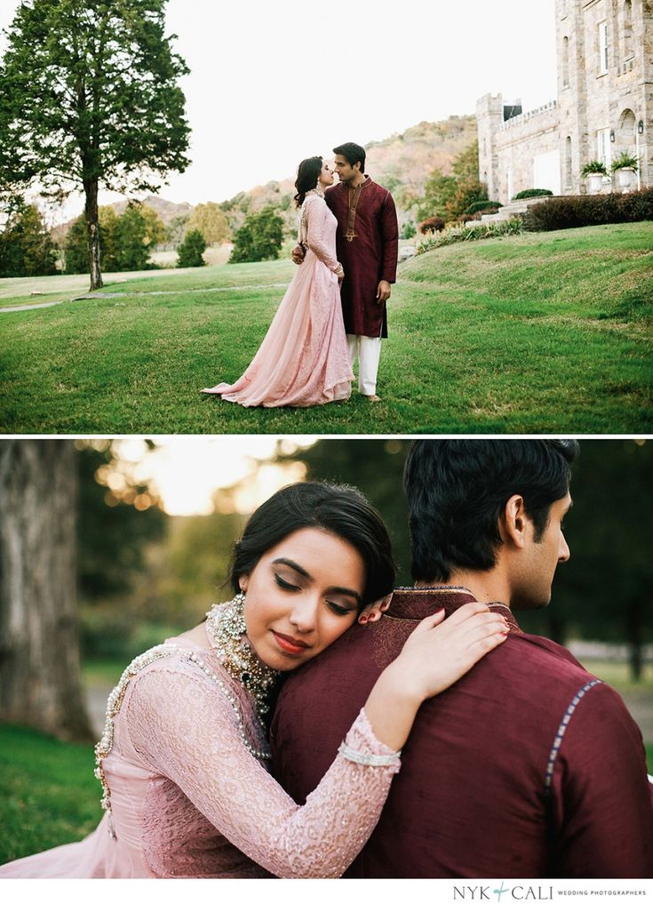 #Tsk Nyk + Cali, Wedding Photographers   Franklin, TN   Castle Engagement Session   Romantic   Pakistani couple