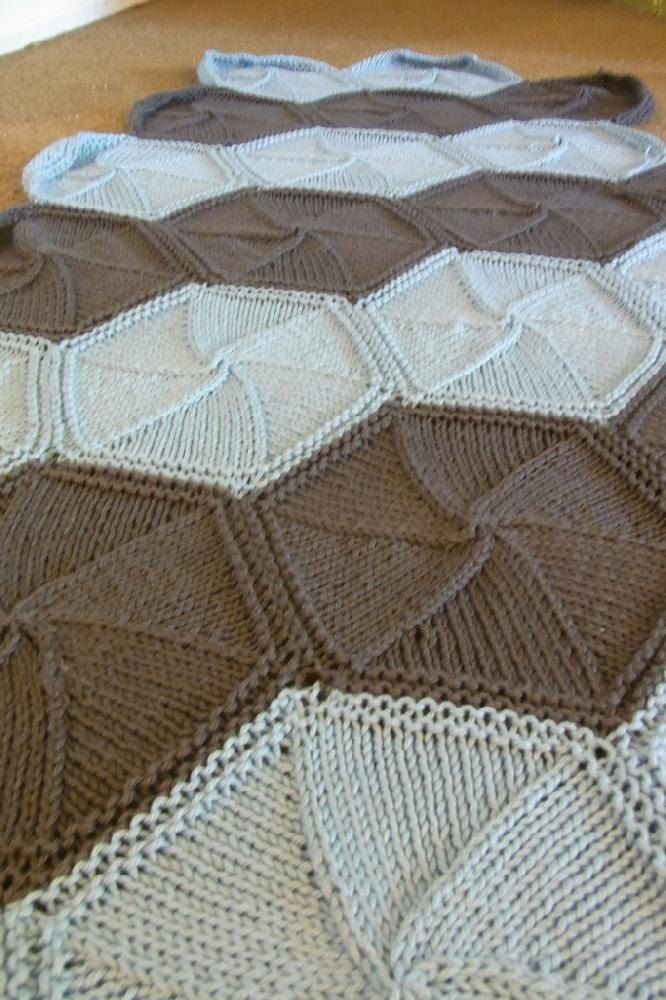 This is a tutorial for how I made my hexa-ghan blanket. This blanket could easily be adapted for any yarn/gauge you want. It would make an excellent sock blanket and there's NO SEAMING NEEDED – yeah!
