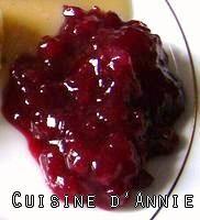 Sauce aux airelles  - Thanksgiving Cranberry Sauce (Socal version)