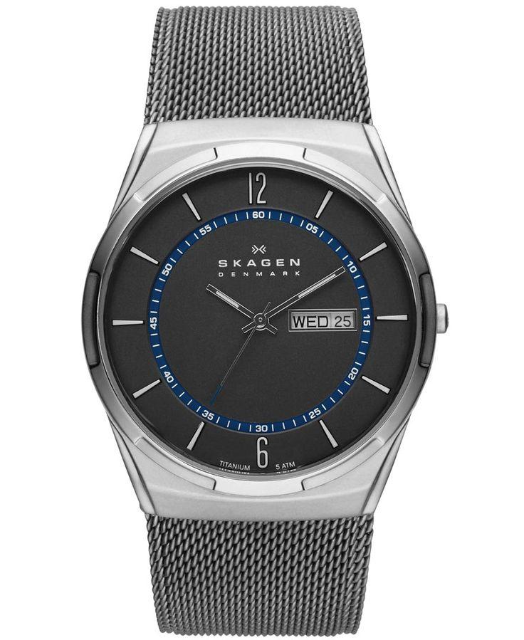 Skagen Men's Titanium Mesh Bracelet Watch 40mm SKW6078