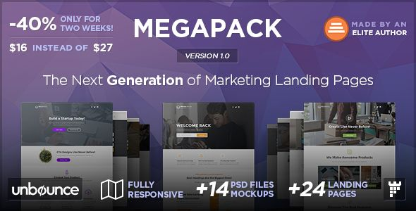 MEGAPACK - Multipurpose Unbounce Landing Pages Pack