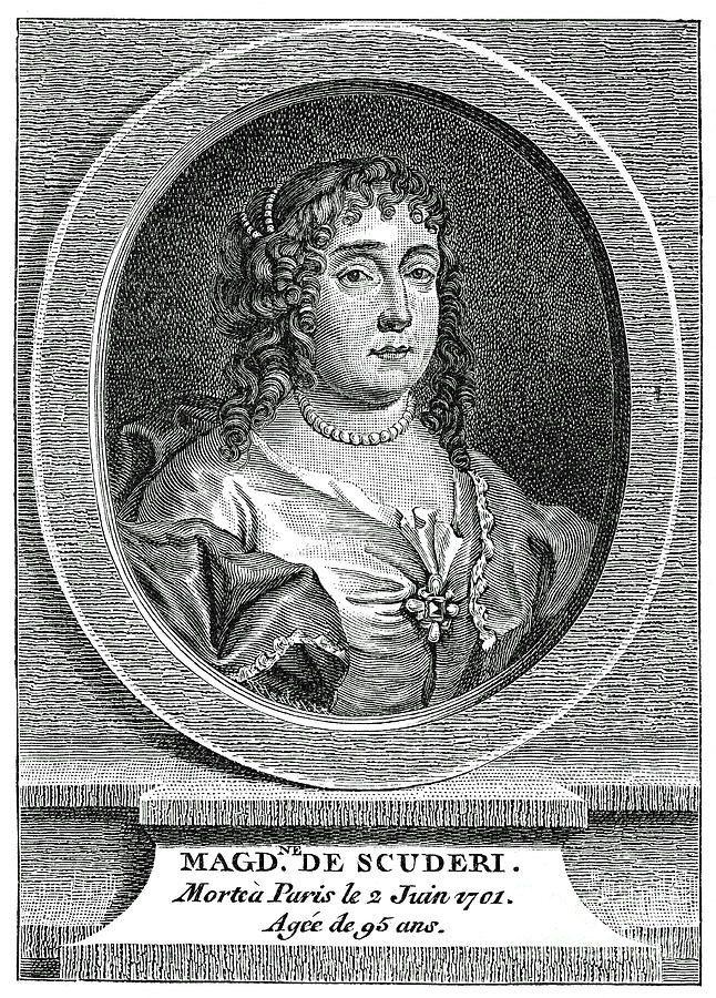 Madeleine de Scudéry (1607-1701) auteur van liefdesromans als Le grand Cyrus en Clélie