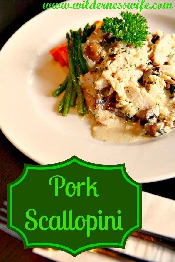 Pork Scallopini - great thing to do with Pork Chops - The Wilderness Wife www.wildernesswife.com #recipe #pork #scallopini