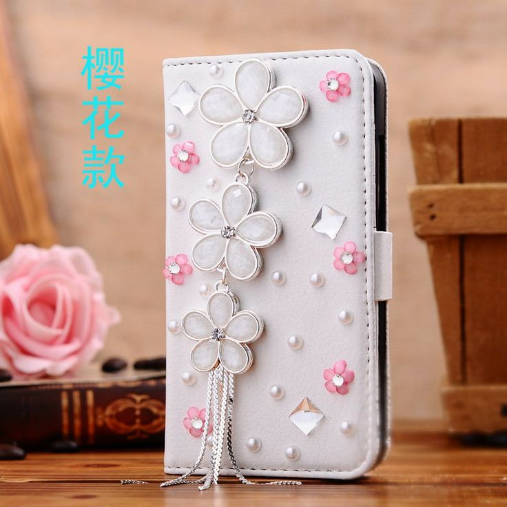 High Quality Fashion Gift Diamond Bling Wallet Flip PU Leather Phone Case Cover For Sony Xperia SP M35H Covers