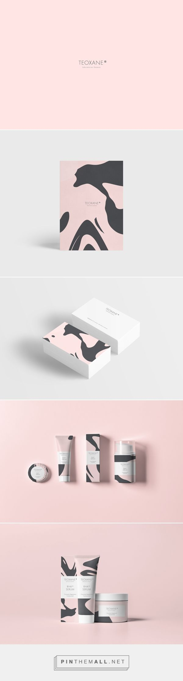 Teoxane on Behance by Tuper Oir Paris, France PD curated by Packaging Diva PD. Pretty in pink cosmetic packaging branding. Refonte du logo / charte graphique, art direction, graphic design.