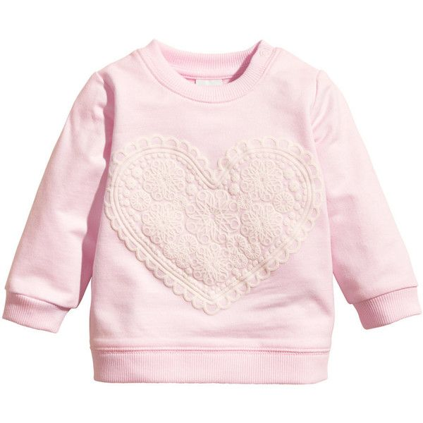 Sweatshirt with Motif $9.95 (€9,08) ❤ liked on Polyvore featuring tops, hoodies, sweatshirts, one sleeve tops, pink one shoulder top, one shoulder sweatshirt, off one shoulder tops and pink top