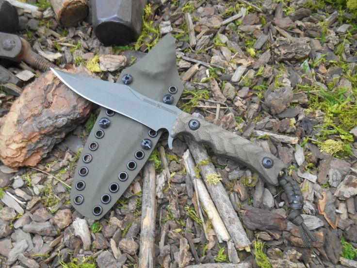 """Behring Made Technical Wraith. BLADE LENGTH: 5 1/2"""" OVERALL LENGTH: 10"""" BLADE STEEL: 3/16"""" 01 Tool Steel ROCKWELL: RC 58-59 GRIP… 