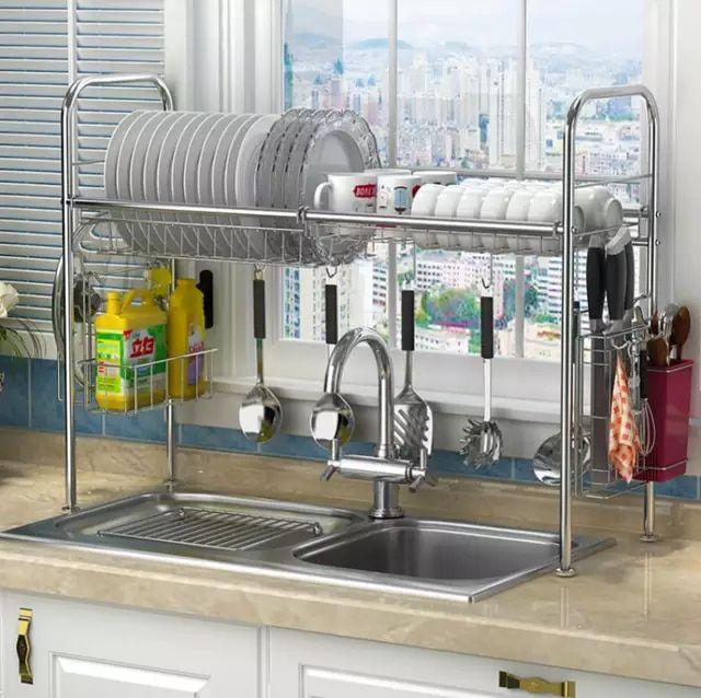 304 estante para platos de acero inoxidable fregadero de - Rack para platos ...