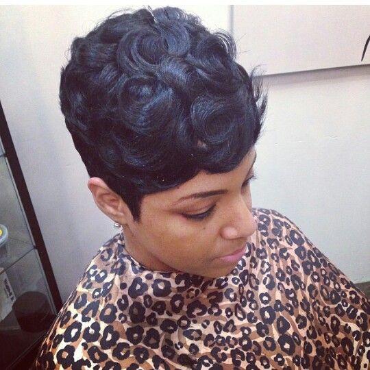 My Hair Style This Week! Love Pin Curls!